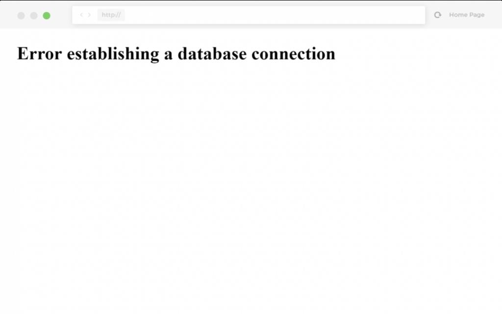 Problemer med at oprette forbindelse til databasen